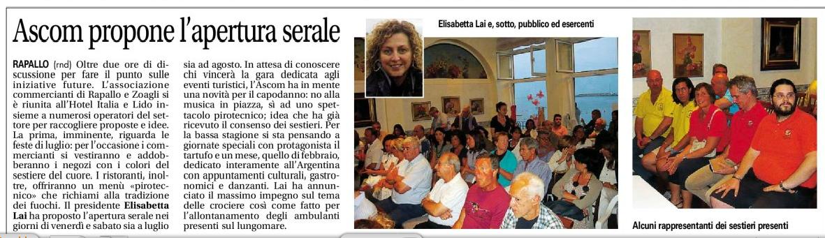 Sestieri e Ascom Rapallo
